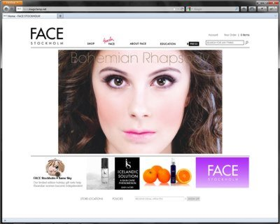 eCommerce Web Design - FACE Stockholm